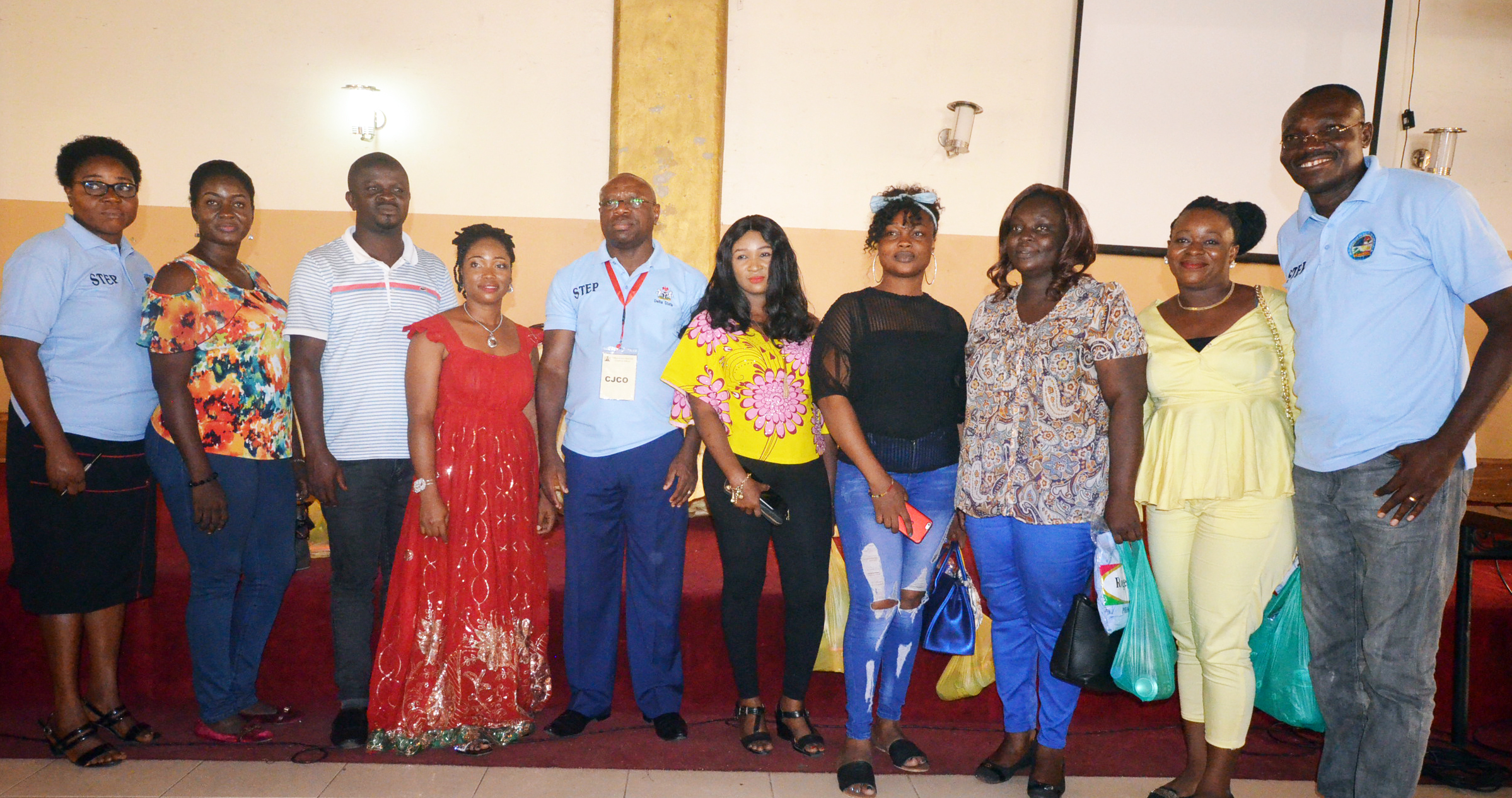 CJCO, Prof Eric Eboh, (M) flanked by STEPreneurs grown into trainers